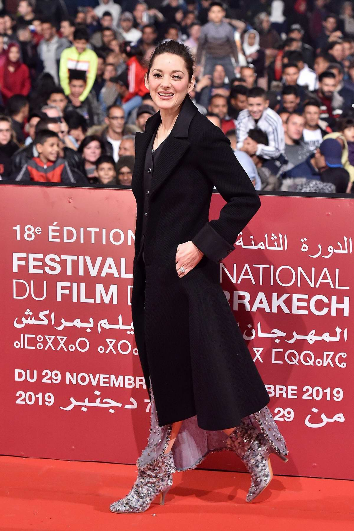 Marion Cotillard attends the screening of 'McBeth' during the 18th Marrakech International Film Festival in Marrakesh, Morocco