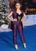 Meg Donnelly attends the Premiere of 'Jumanji: The Next Level' at TCL Chinese Theatre in Hollywood, California