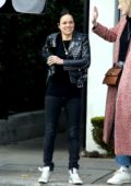 Michelle Rodriguez grabs lunch with friends at Gracias Madre in West Hollywood, Los Angeles