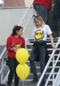 Miley Cyrus wishes residents of My Friend's Place a 'Happy Hippie Holiday' in Hollywood, California