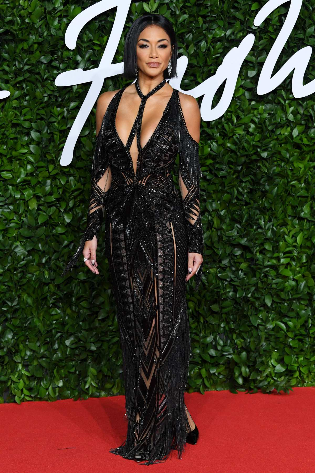 Nicole Scherzinger attends The Fashion Awards 2019 held at Royal Albert Hall in London, UK