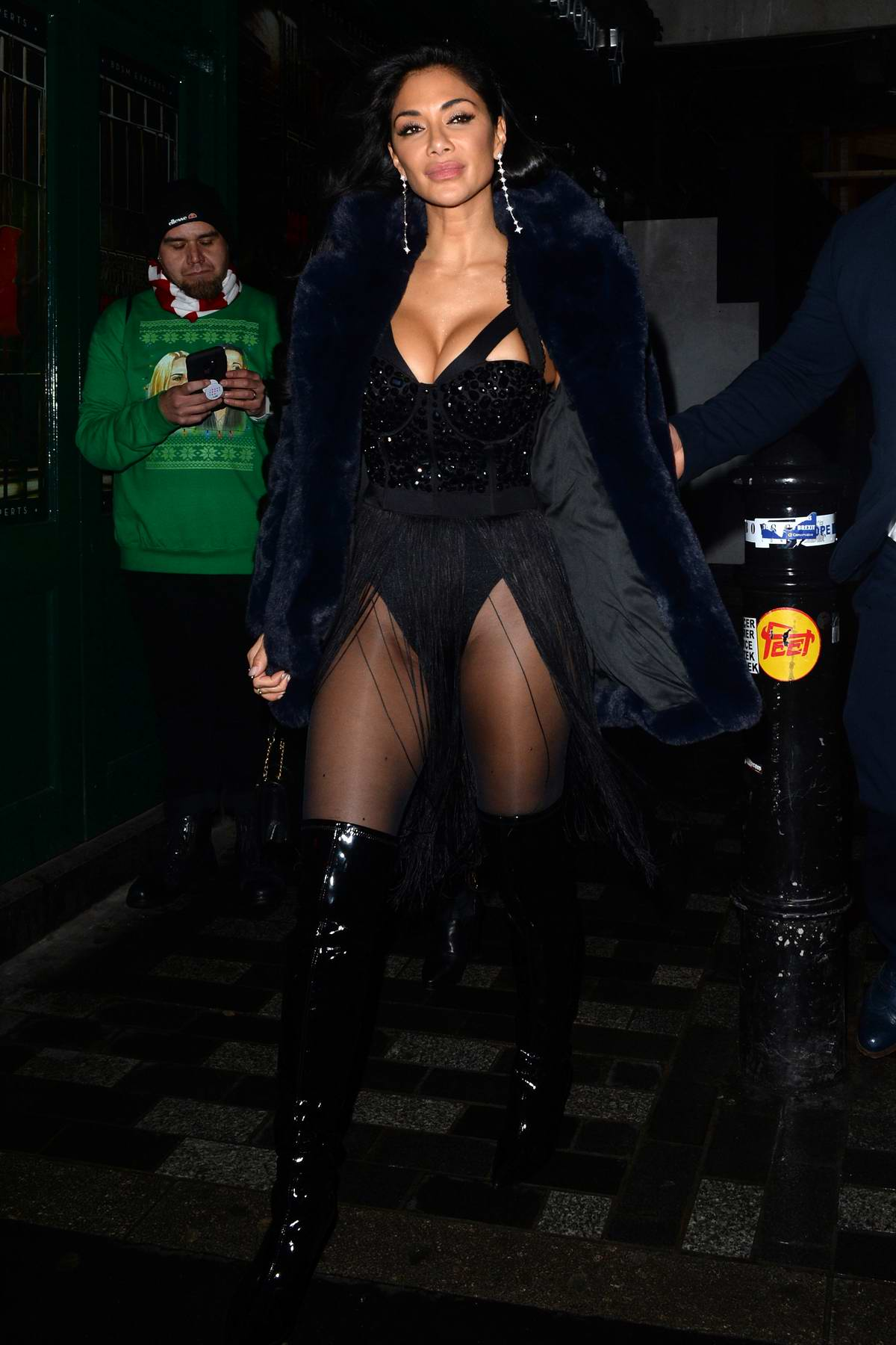 Nicole Scherzinger spotted as she leaves after a performance at the Boulevard Theater in London, UK