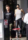 Nikki Bella and Artem Chigvintsev enjoy an alfresco lunch together at Joan's on Third in Studio City, California