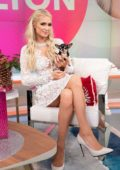 Paris Hilton makes an appearance on 'Despierta America' at Univision Studios in Miami, Florida
