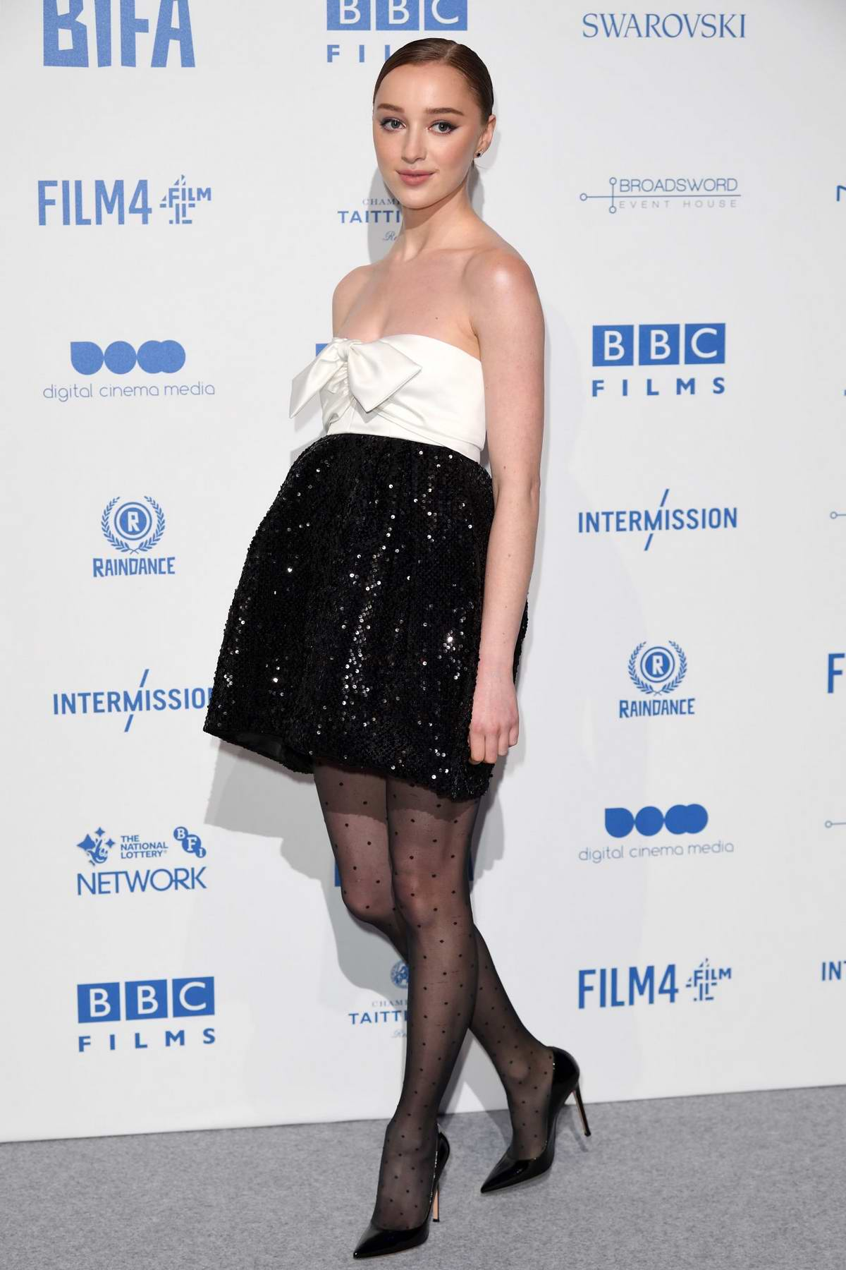 Phoebe Dynevor attends the British Independent Film Awards 2019 at Old Billingsgate in London, UK