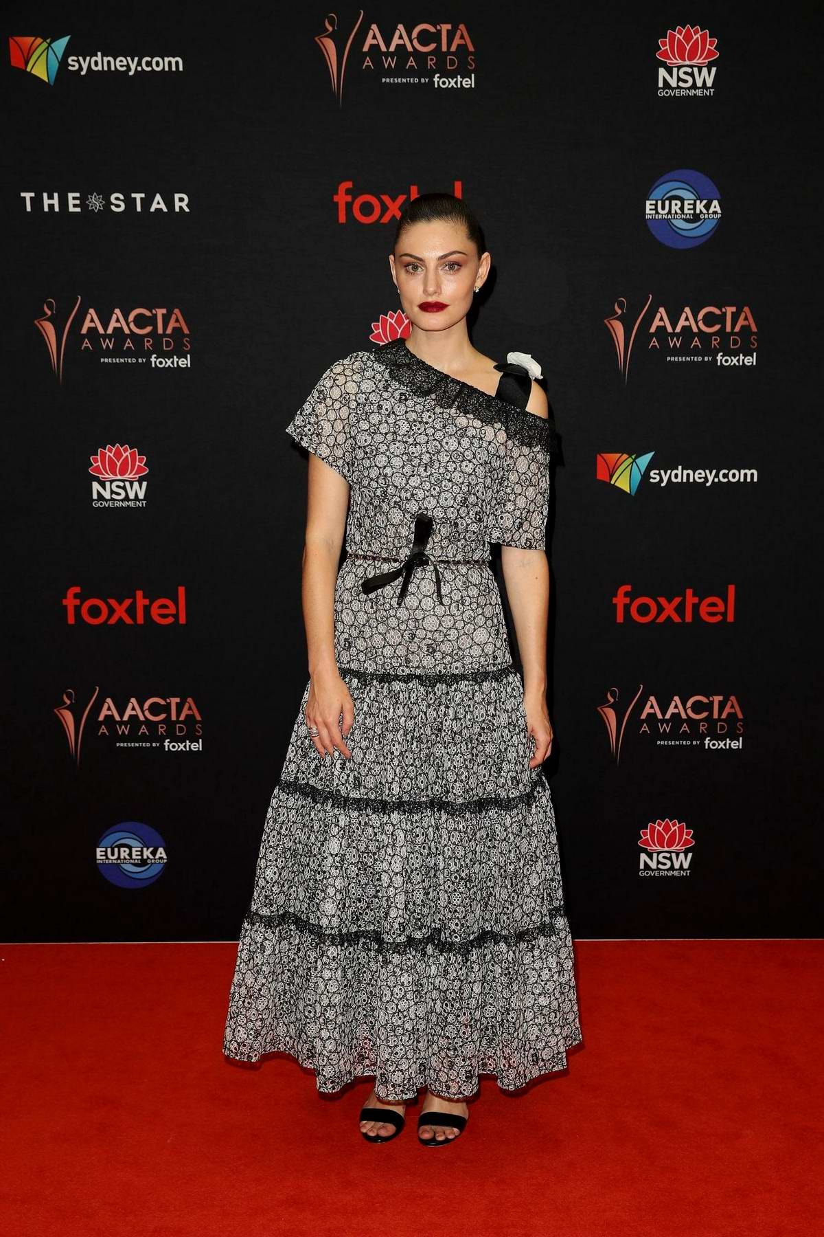 Phoebe Tonkin attends the 2019 AACTA Awards at The Star in Sydney, Australia