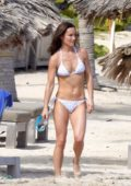 Pippa Middleton spotted in a white polka dot bikini while enjoying the beach during Christmas holidays in St Barts, France