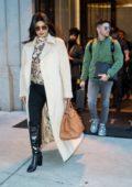 Priyanka Chopra and Nick Jonas seen leaving her apartment in New York City