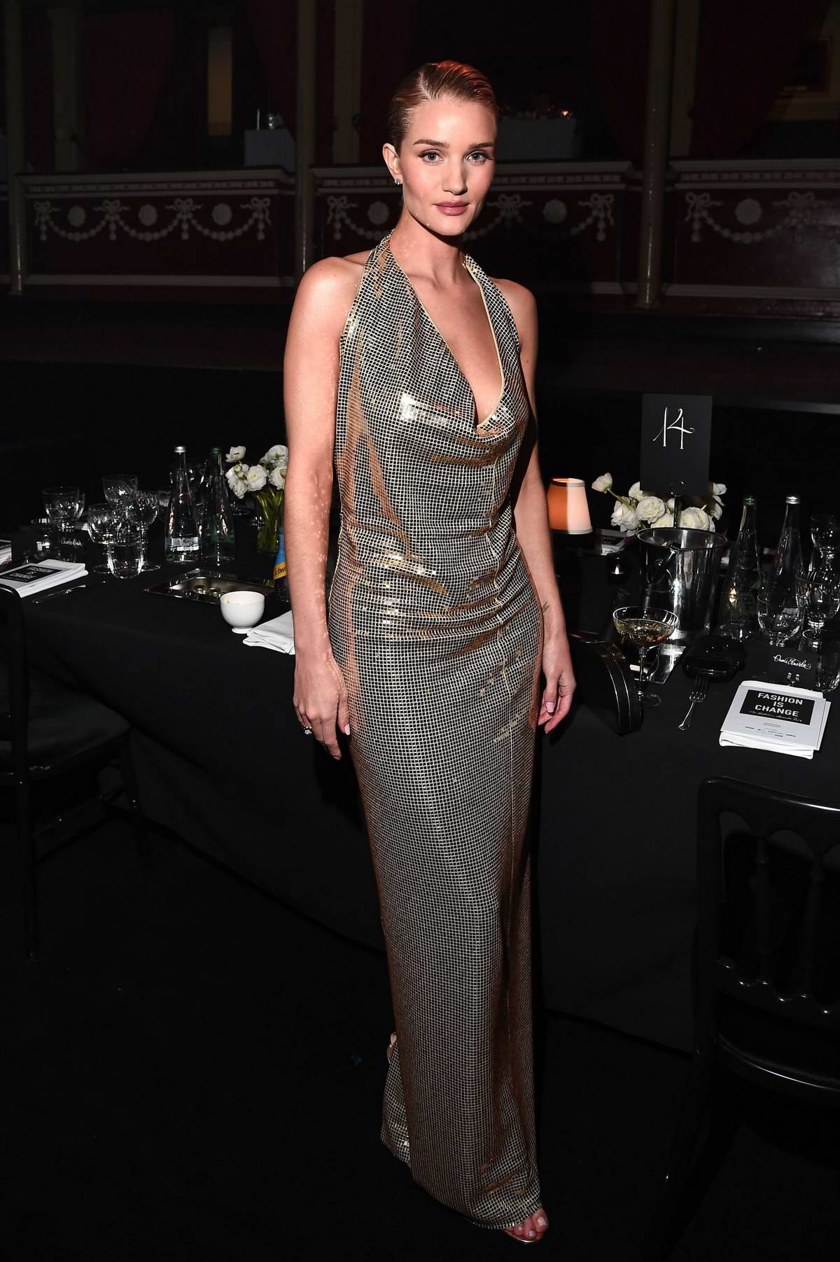 Rosie Huntington-Whiteley attends The Fashion Awards 2019 held at Royal Albert Hall in London, UK