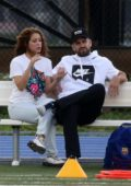 Shakira and Gerard Pique support their kids at soccer practice in Miami, Florida