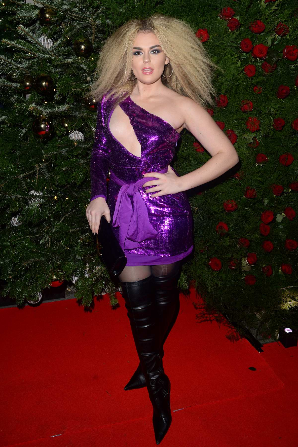 Tallia Storm attends the Tramp Private Members Club Xmas Party in London, UK