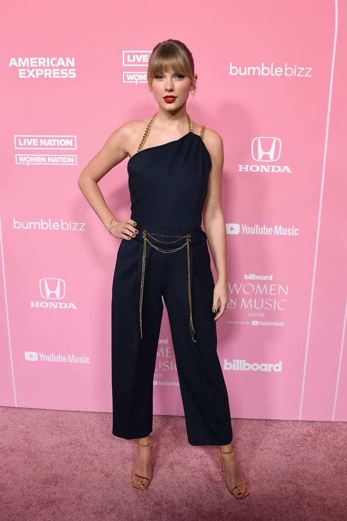 Taylor Swift attends the 2019 Billboard Women in Music at Hollywood Palladium in Los Angeles