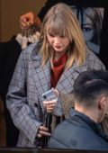 Taylor Swift makes a low key trip to meet fashion designer Stella McCartney in London, UK