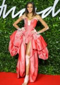 Winnie Harlow attends The Fashion Awards 2019 held at Royal Albert Hall in London, UK