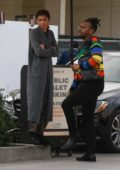 Zendaya seen while waiting for her ride after shopping with her brother at Club Monaco in Los Angeles