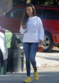 Zoe Saldana steps out makeup free as she runs a few errands in Beverly Hills, California