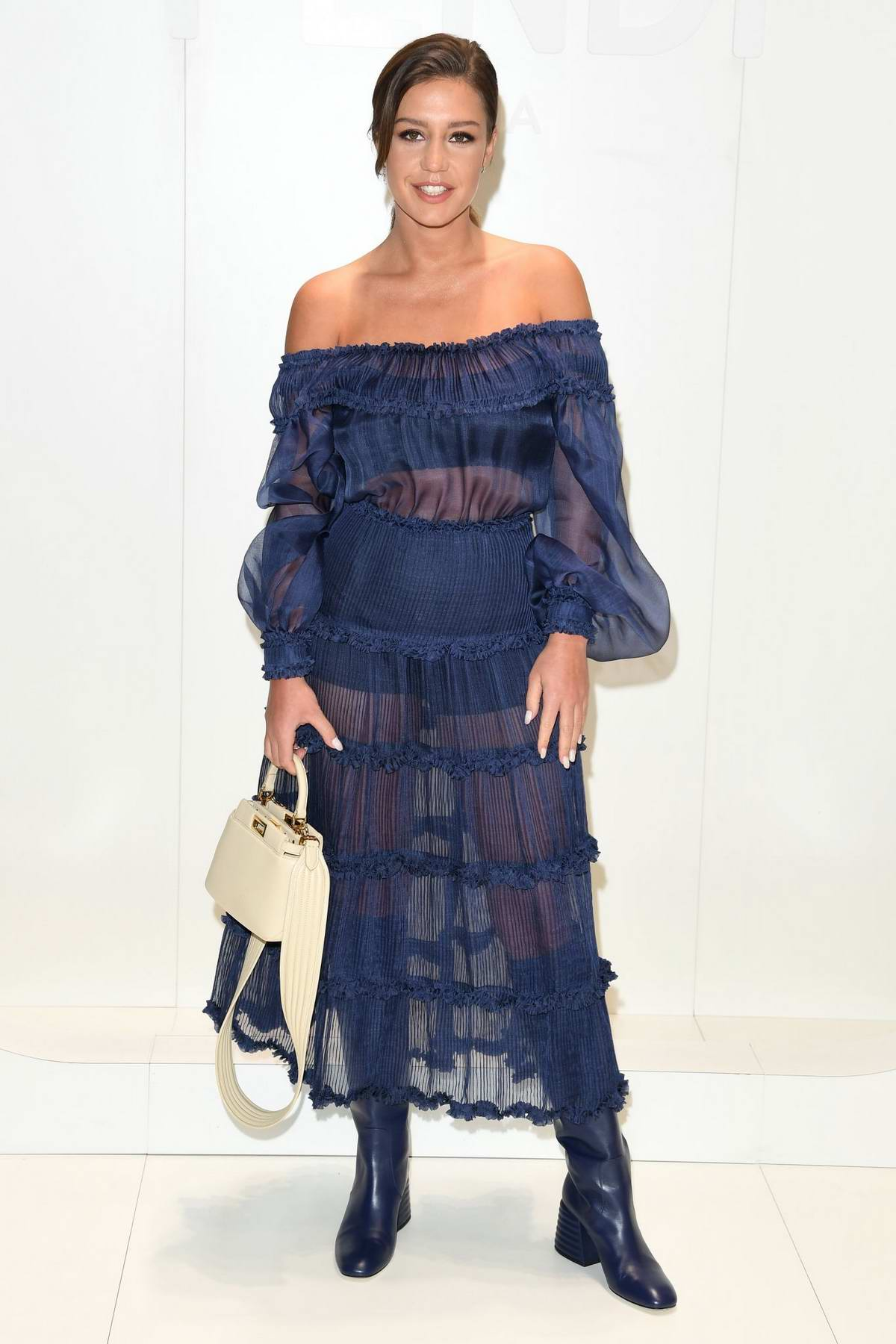 Adele Exarchopoulos attends the Fendi F/W 2020 Fashion Show during Milan Fashion Week Men's in Milan, Italy