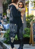 Alessandra Ambrosio and Nicolo Oddi pack on some PDA after a lunch date at Gjelina in Venice Beach, California