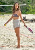 Alessandra Ambrosio shows off her incredible body while having fun on the beach in Florianópolis, Brazil