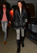 Alessandra Ambrosio steps out for dinner with Nicolo Oddi in Santa Monica, California