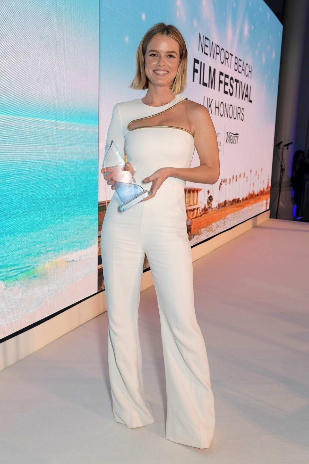 Alice Eve attends the Newport Beach Film Festival 6th Annual UK Honours at The Langham Hotel in London, UK