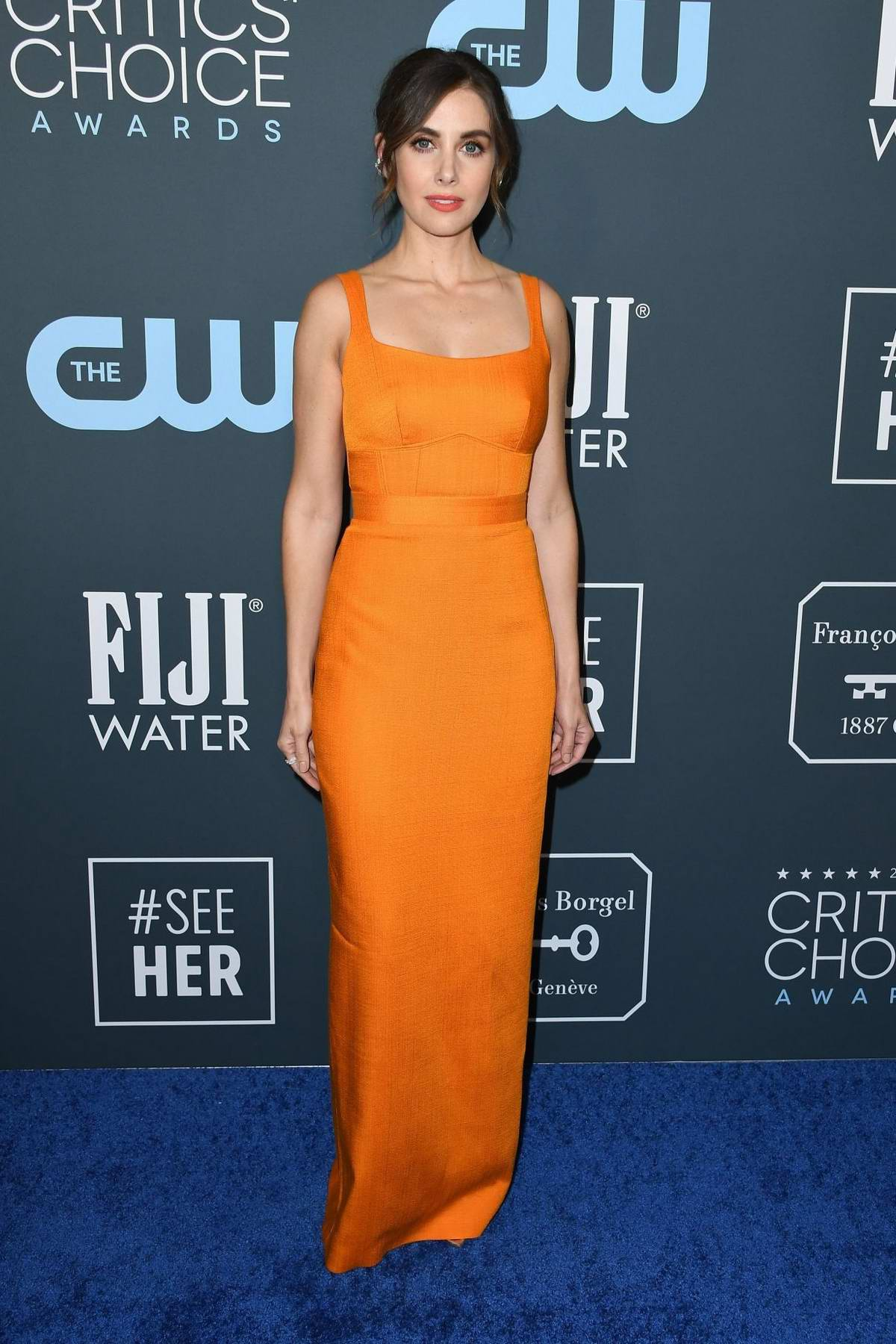 Alison Brie attends the 25th Annual Critics' Choice Awards at Barker Hangar in Santa Monica, California