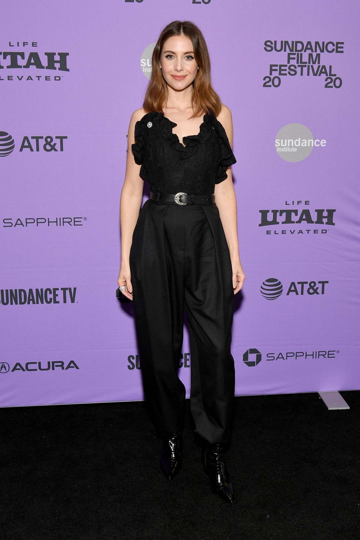 Alison Brie attends the Premiere of 'Promising Young Woman' during the Sundance Film Festival 2020 in Park City, Utah