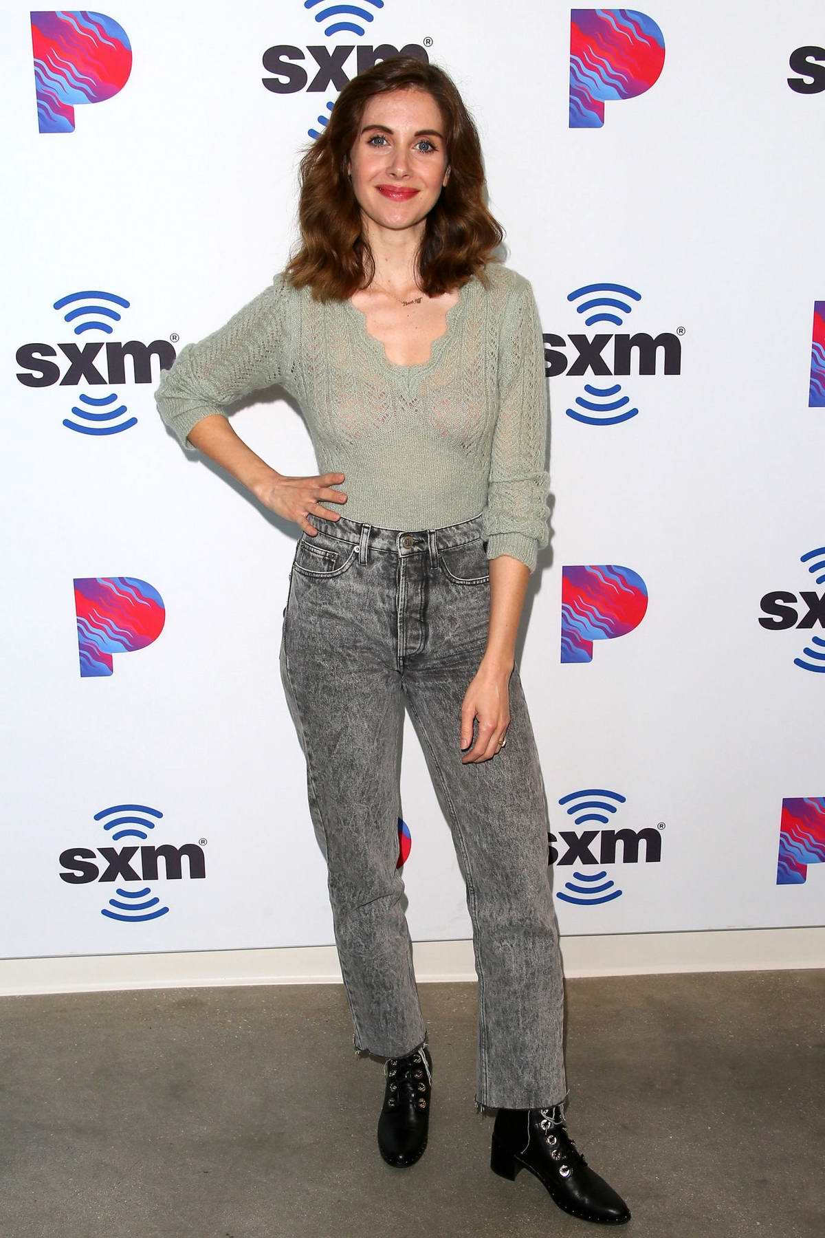 Alison Brie visits SiriusXM Studios in Los Angeles