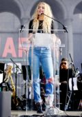 Amber Heard attends the 4th Annual Women's March in Los Angeles