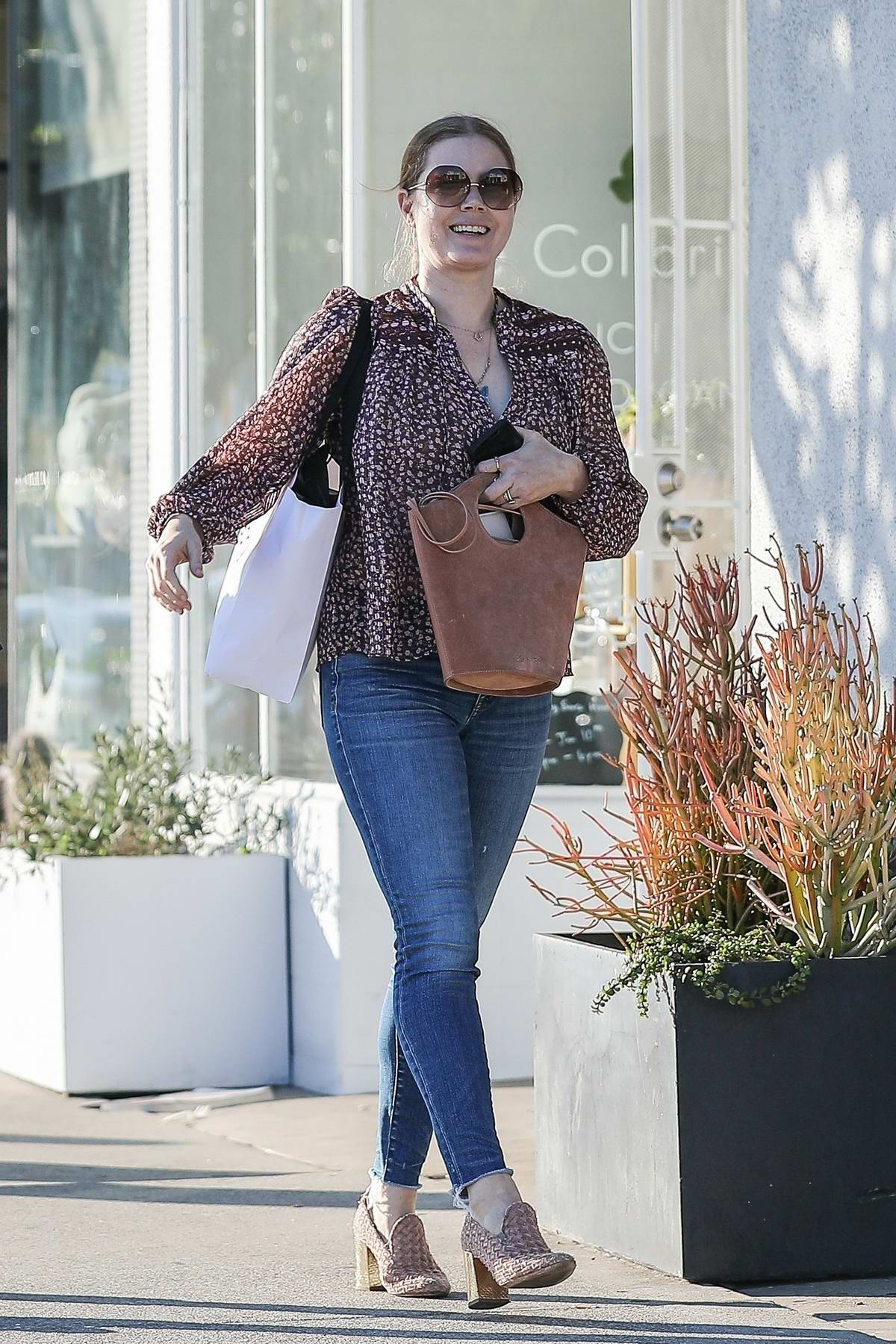 Amy Adams takes her daughter to music class in West Hollywood, California