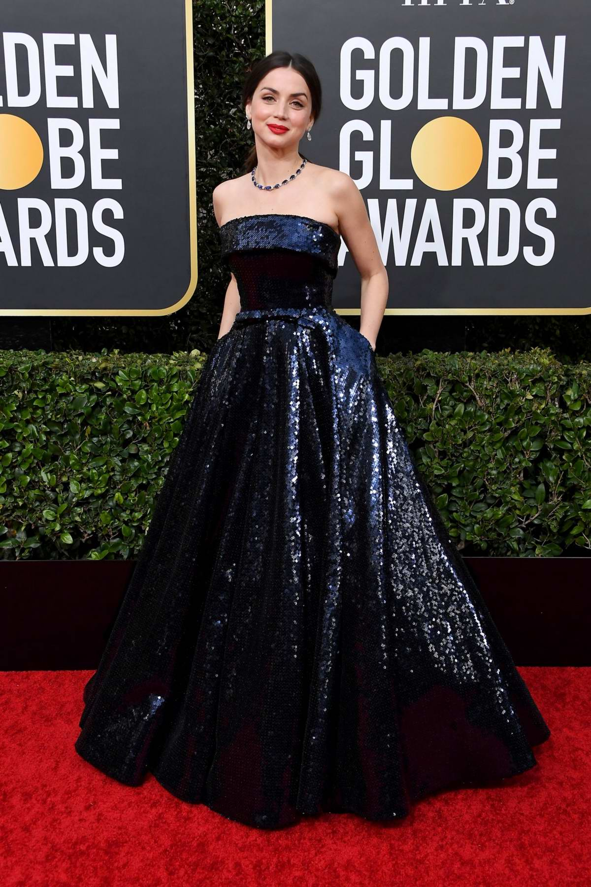 Ana de Armas attends the 77th Annual Golden Globe Awards at The Beverly Hilton Hotel in Beverly Hills, California