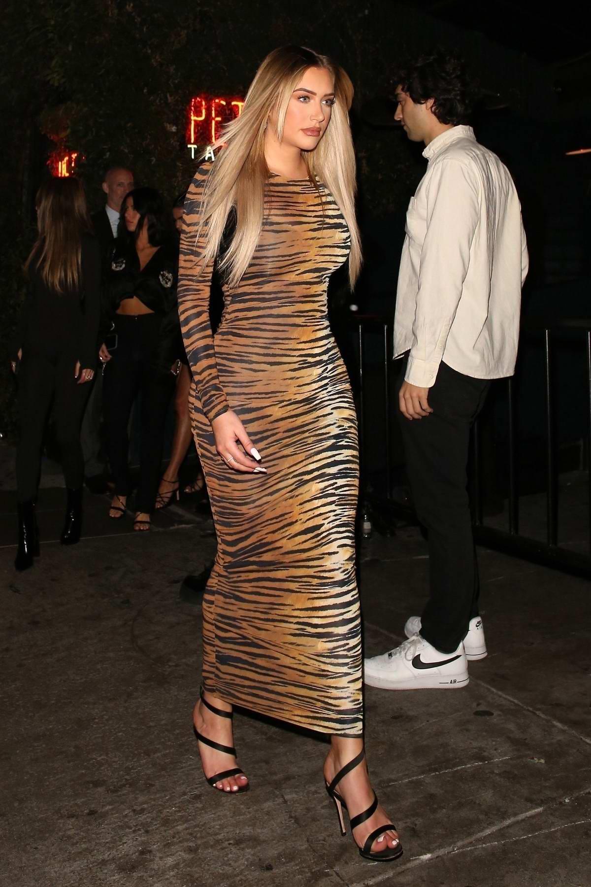 Anastasia Karanikolaou attends Billie Eilish's Grammys After-Party in Los Angeles