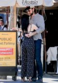 Ariel Winter and Luke Benward wait for their ride after lunch at Il Pastaio in Beverly Hills, California