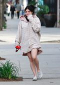Ariel Winter covers up in an oversized hoodie while out running errands in Studio City, California