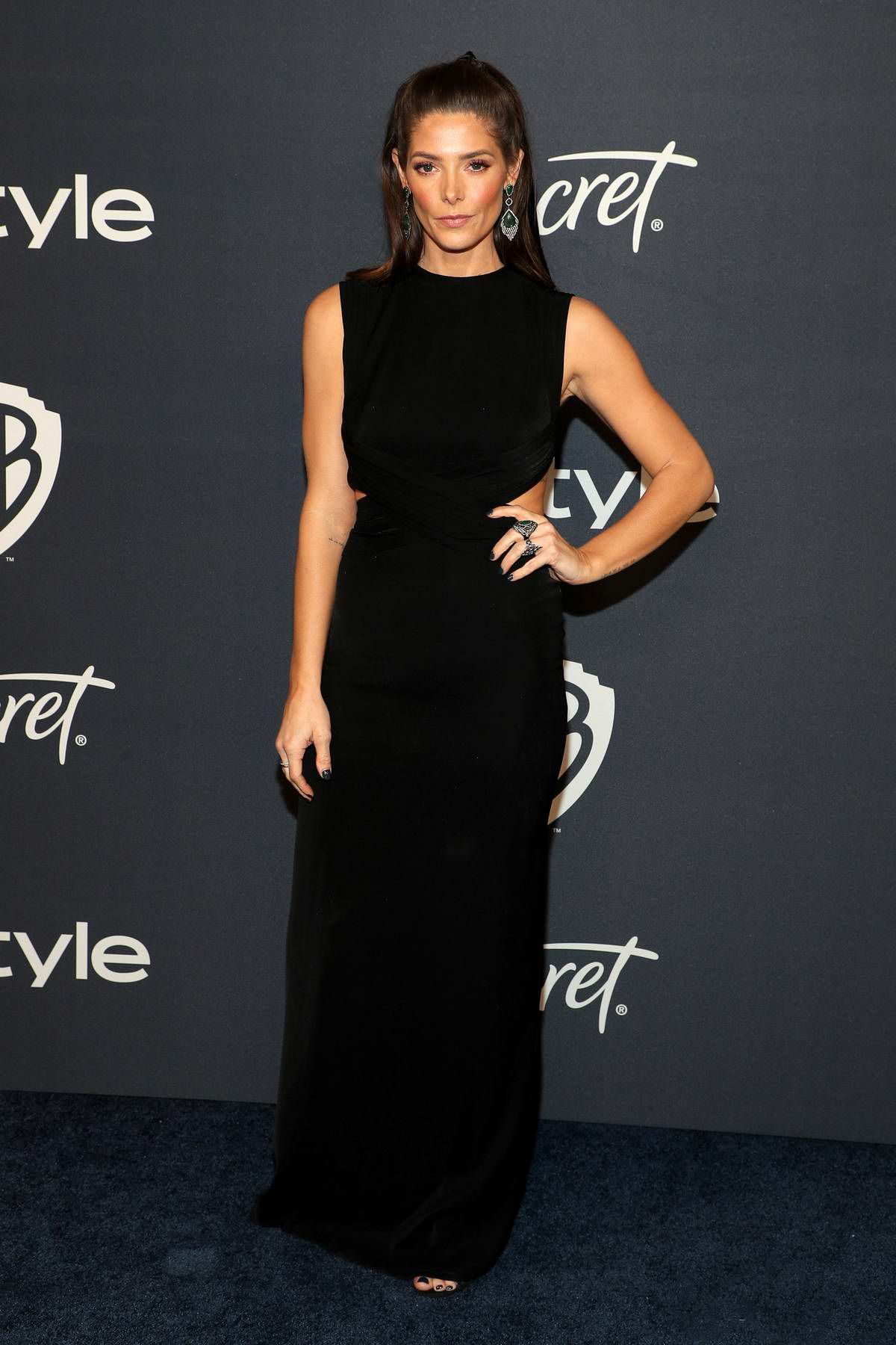 Ashley Greene attends the 21st annual Warner Bros and InStyle Golden Globe After-Party in Beverly Hills, California