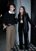 Bailee Madison is all smiles as she leaves after dinner with Blake Richardson at Craig's in West Hollywood, California