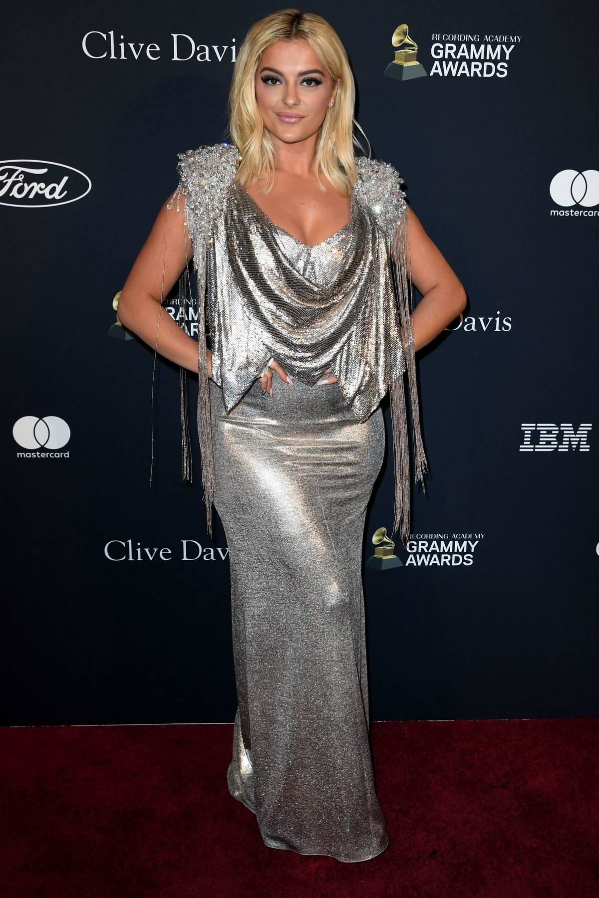 Bebe Rexha attends the Recording Academy and Clive Davis Pre-Grammy Gala in Beverly Hills, California