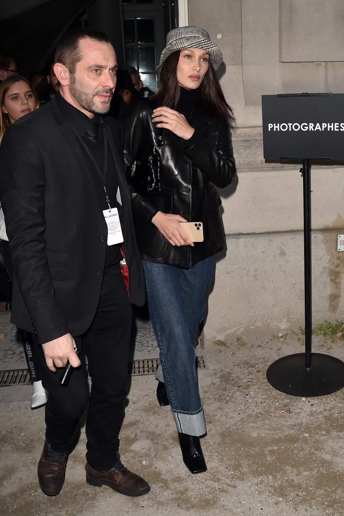 Bella Hadid seen at the Alexandre Vauthier Fashion Show in Paris, France