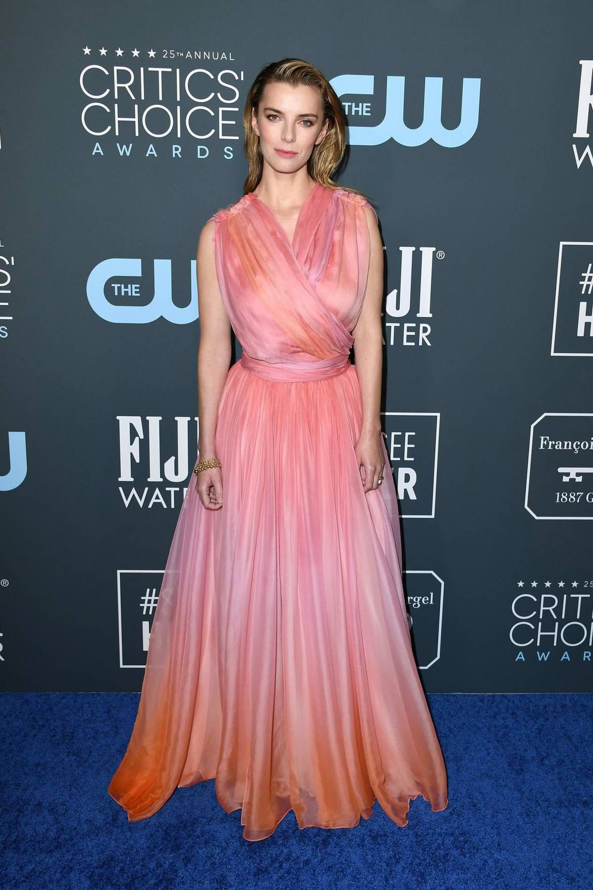Betty Gilpin attends the 25th Annual Critics' Choice Awards at Barker Hangar in Santa Monica, California