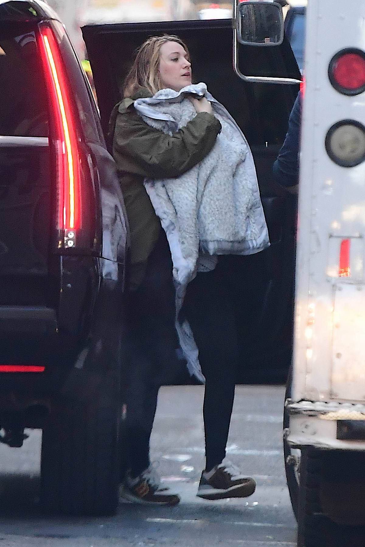 Blake Lively seen with her newborn baby girl out for breakfast in New York City