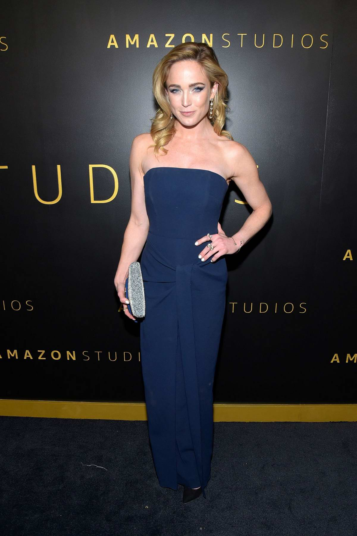 Caity Lotz attends Amazon Studios Golden Globes After-Party at The Beverly Hilton Hotel in Beverly Hills, California