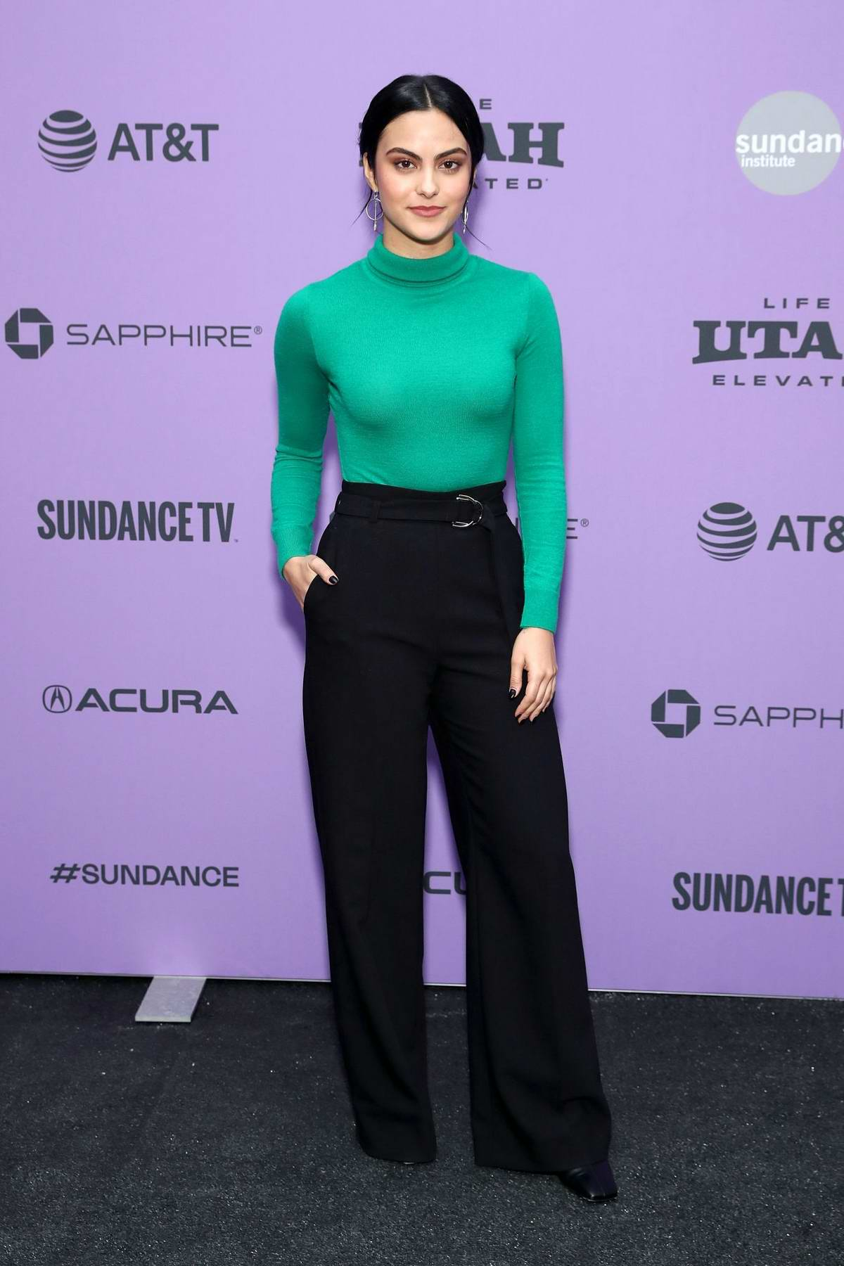 Camila Mendes attends the Premiere of 'Palm Springs' during the Sundance Film Festival 2020 in Park City, Utah
