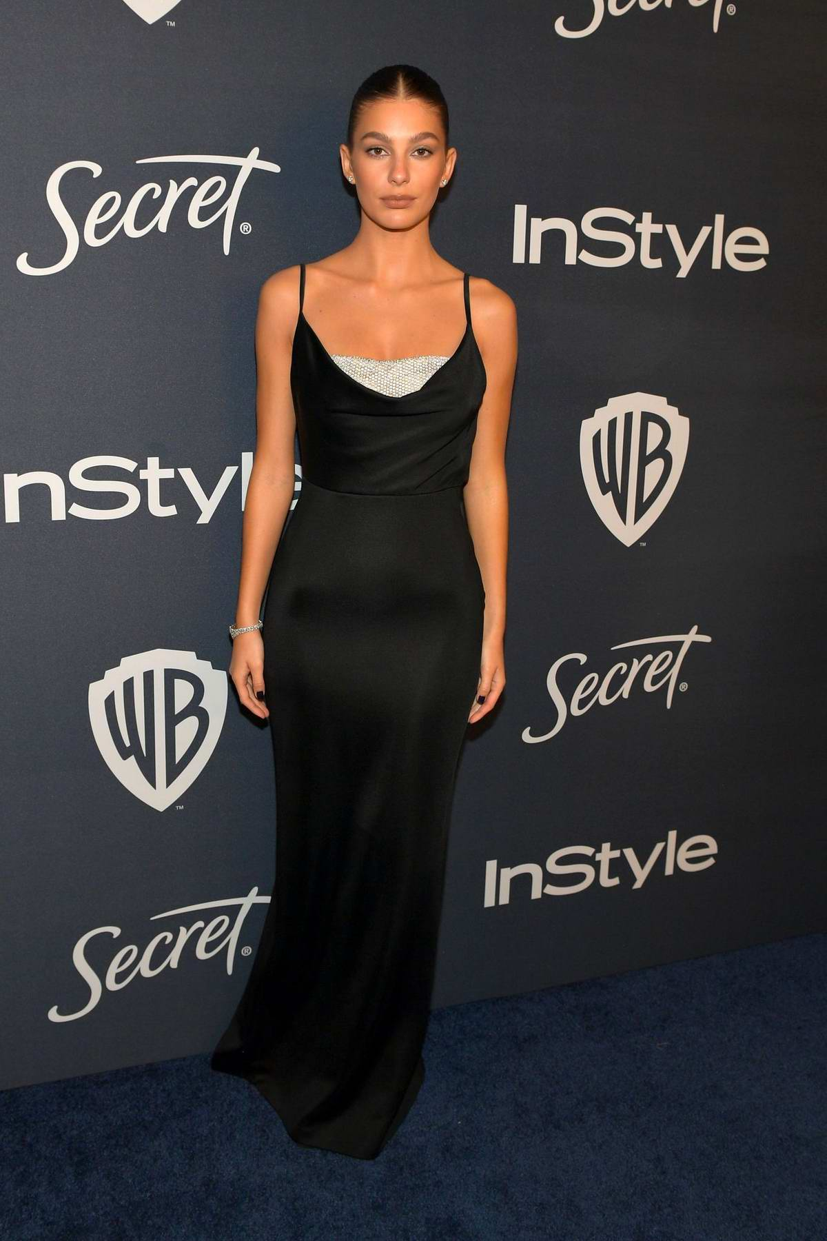 Camila Morrone attends the 21st annual Warner Bros and InStyle Golden Globe After-Party in Beverly Hills, California