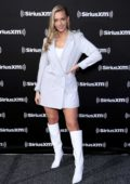 Camille Kostek makes an appearance on SiriusXM at Super Bowl LIV in Miami, Florida