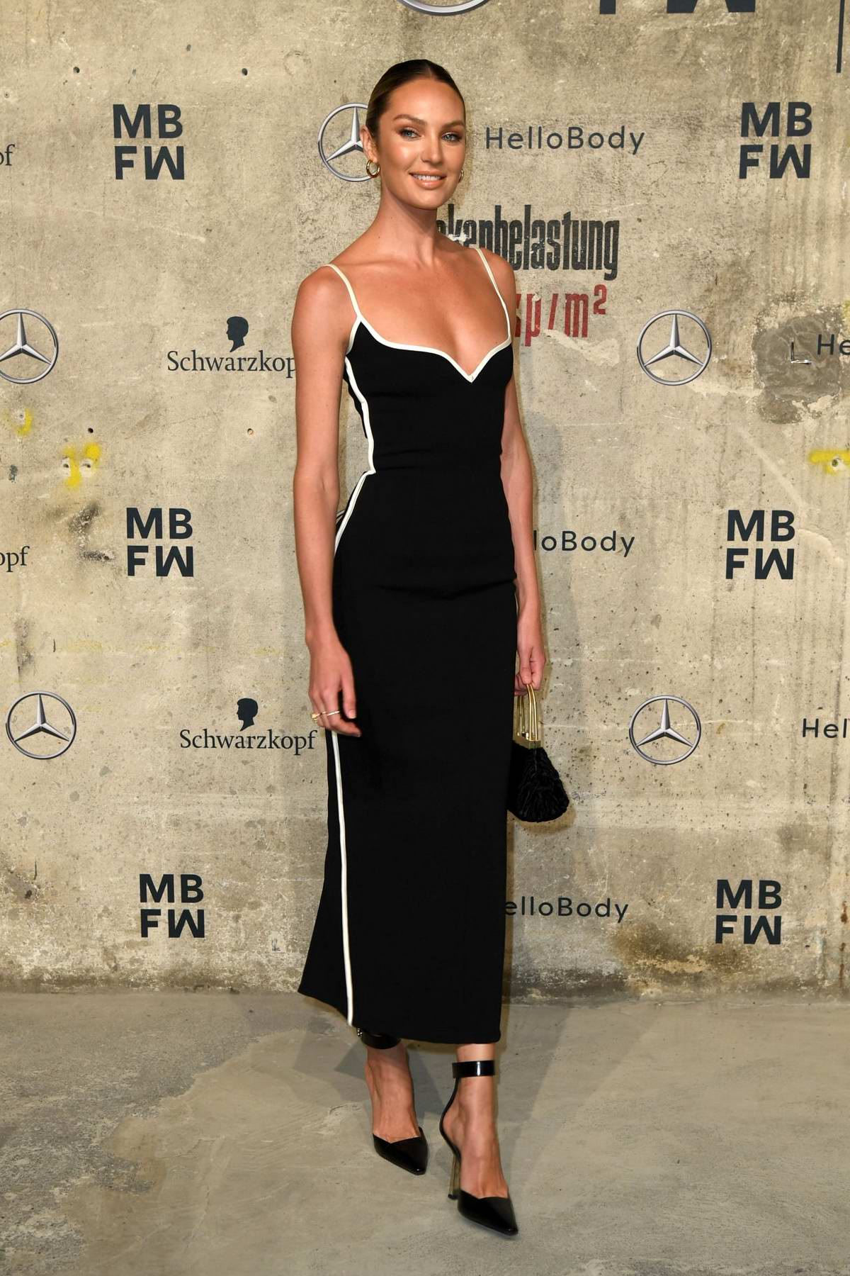 Candice Swanepoel attends the Mercedes-Benz presents Fashion Talents from South Africa show in Berlin, Germany