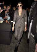 Cara Delevingne arrives at the Dior Men's Fashion Show in Paris, France