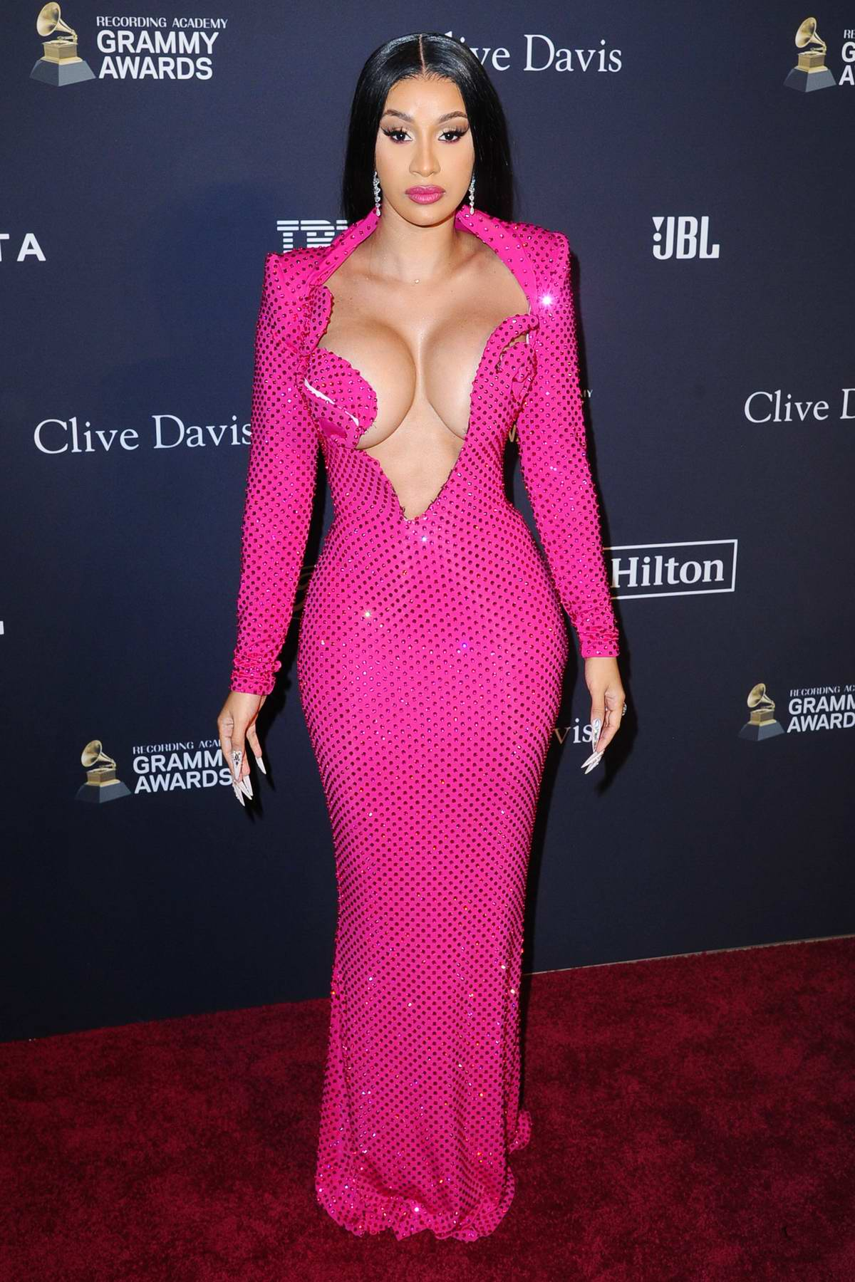 Cardi B attends the Recording Academy and Clive Davis Pre-Grammy Gala in Beverly Hills, California