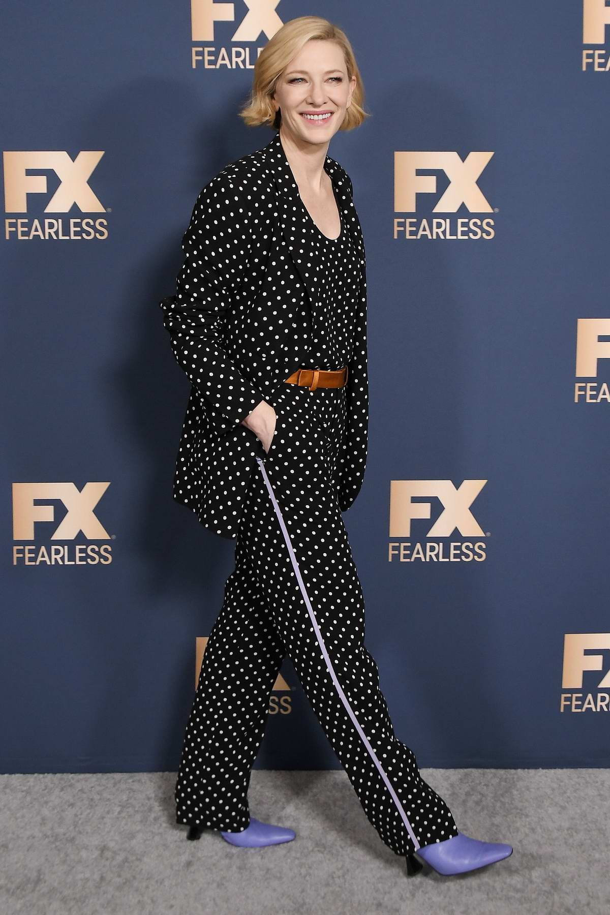 Cate Blanchett attends the FX Networks Winter TCA Starwalk in Pasadena, California