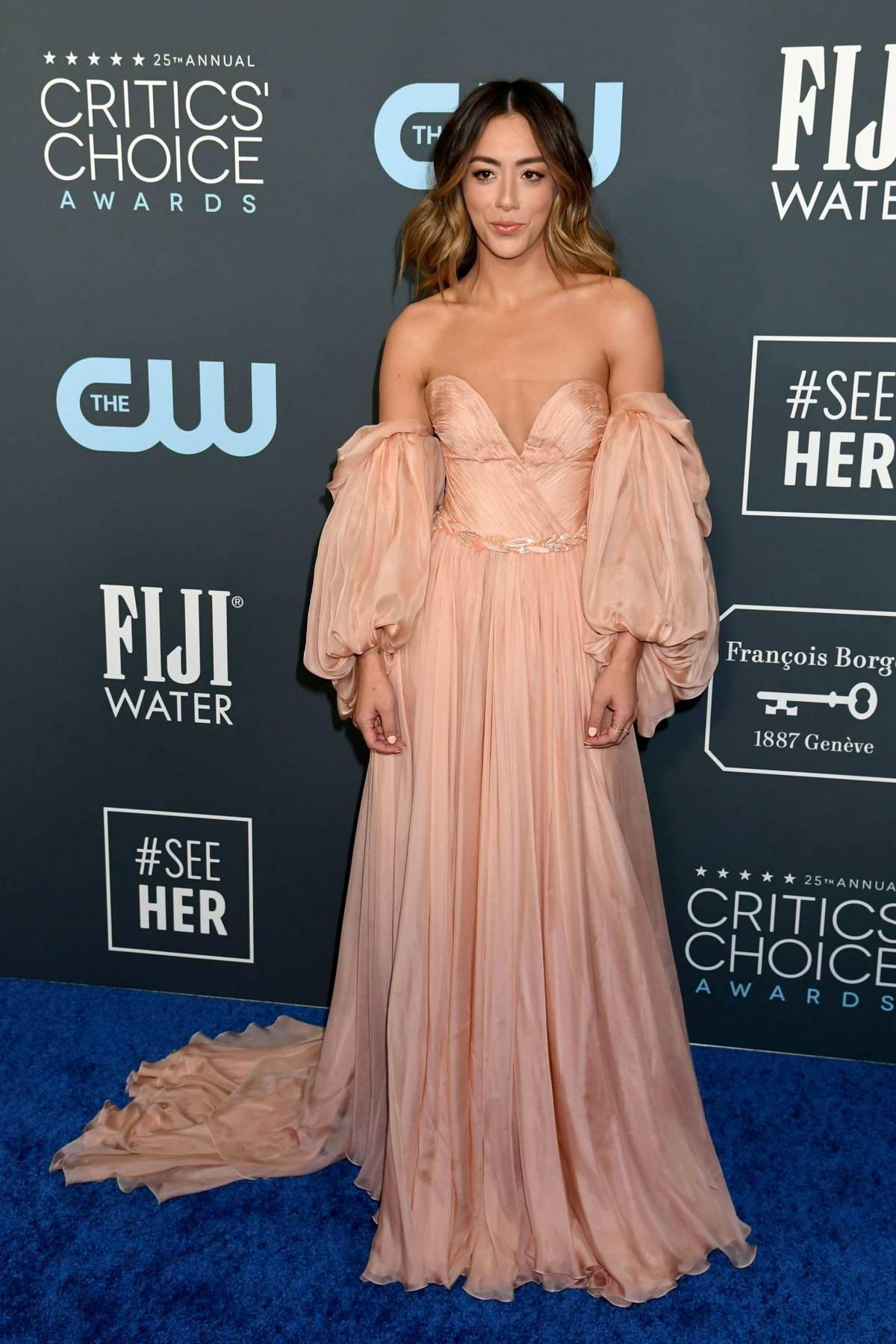Chloe Bennet attends the 25th Annual Critics' Choice Awards at Barker Hangar in Santa Monica, California