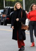 Chloe Grace Moretz walks back to her ride after some grocery shopping with her brother Trevor in Beverly Hills, California